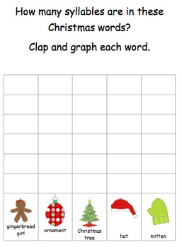Christmas Syllables-Clap and Graph