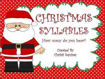 Syllables   How many do you hear?