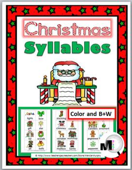 Christmas Syllables Sort