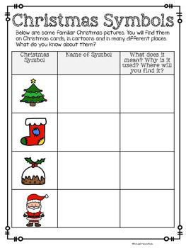 Christmas Symbol Worksheet