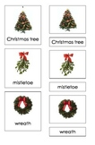 Christmas Symbols (3 Part Montessori Cards)