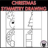 Christmas Symmetry Drawing Worksheets Math + Art