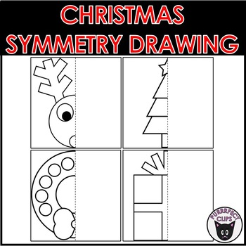 Christmas Symmetry Worksheets & Teaching Resources | TpT