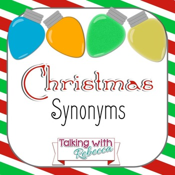 Christmas Synonyms for Speech Therapy
