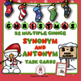 Christmas Synonyms & Antonyms Task Cards Using Context Clues