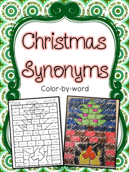 Christmas Synonyms Color-by-Word