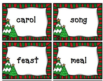Christmas Synonyms Matching Acitivity