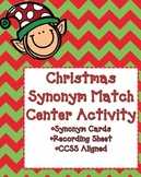 Christmas Synonyms Matching Acitivity