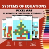 Christmas: Systems of Equations Pixel Art Mystery Pictures