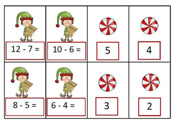 Doubles, Doubles Plus One, Doubles Minus One Christmas Theme