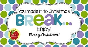 Christmas Tag | Christmas Break