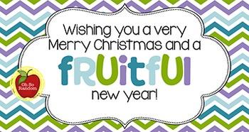 Christmas Tag | Fruitful Year