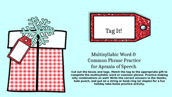 Christmas/Birthday Tag It: Multisyllabic Words & Phrases f