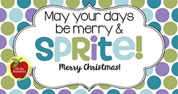 Christmas Tag   Merry & Sprite