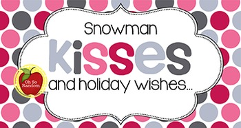 Christmas Tag | Snowman Kisses