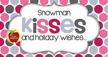 Christmas Tag | Snowman Kisses