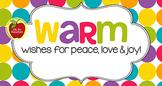 Christmas Tag   Warm Wishes