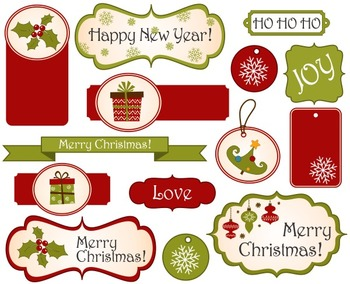 Christmas Tags And Frames Clip Art