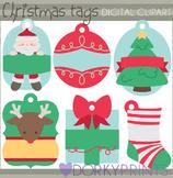 Christmas Tags Clip Art