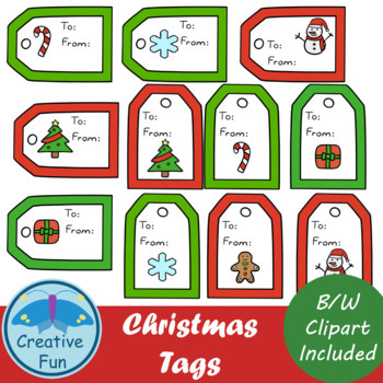 Christmas Tags Clipart