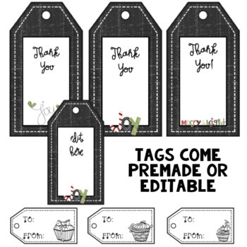 Christmas Tags ~ Editable