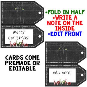 Christmas Tags ~ Editable