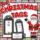 Christmas Tags | Editable | Christmas Tag Labels