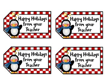 Christmas Tags - Treat Bag Tags