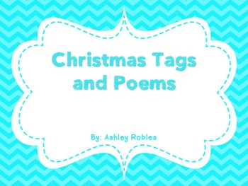 Christmas Tags and Poems