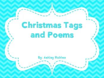 Christmas Tags and Poems