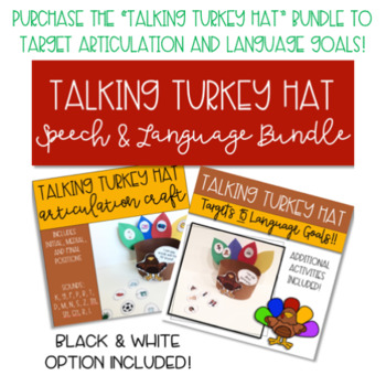 Talking Turkey Claus Hat: Christmas Speech and Language Therapy