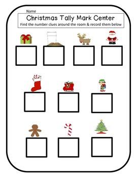 Christmas Tally Mark Math Center