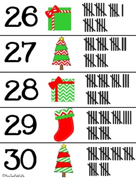 Christmas Tally Marks:Puzzle & Printables Activity Set