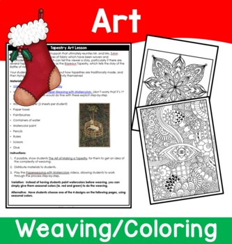 Christmas Tapestry Literature Unit