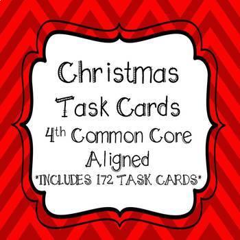 Christmas Task Card Bundle 4th Grade Common Core Aligned