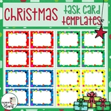 Christmas Task Card Templates for PERSONAL Use