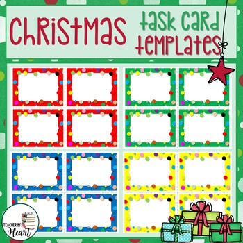 EDITABLE Christmas Task Card Templates for PERSONAL & COMMERCIAL Use Set#1