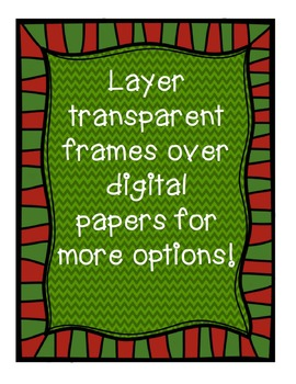 Christmas Task Card and Product Frames {Creative Clips Digital Clipart}