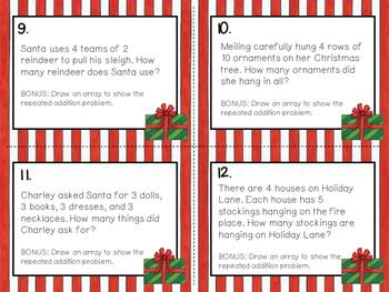 Christmas Task Cards (24 Math Word Problems)
