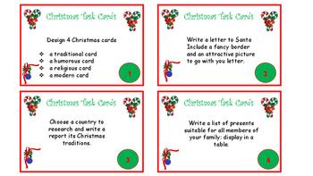 Christmas Task Cards