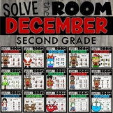 Christmas Task Cards 2nd Grade