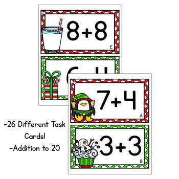 Christmas Addition Task Cards