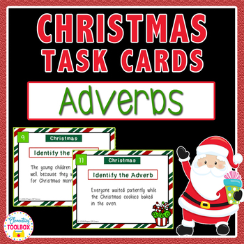 Christmas Adverbs Task Cards