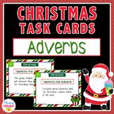 Christmas Adverbs Task Cards