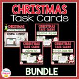 Christmas Task Cards Bundle-Adverbs, Math, Figurative Language, Writing Prompts