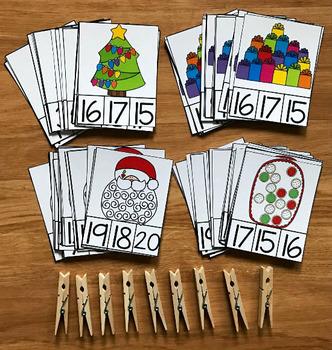 """Christmas Task Cards:  """"Counting Christmas"""""""