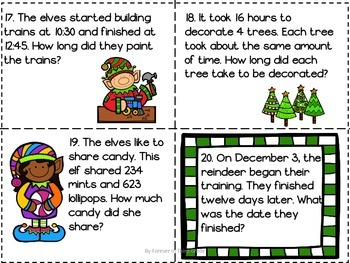 Christmas Task Cards - Mixed Problem Solving