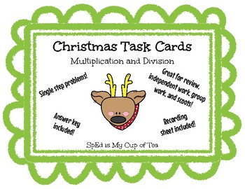 Christmas Task Cards - Multiplication and Division