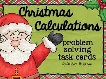 Christmas Task Cards Multistep Problem Solving