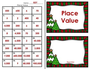 Christmas Task Cards - Place Value